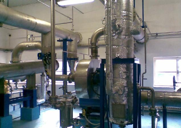 Ohřívač bioplynu, ventilátor, odvodňovač