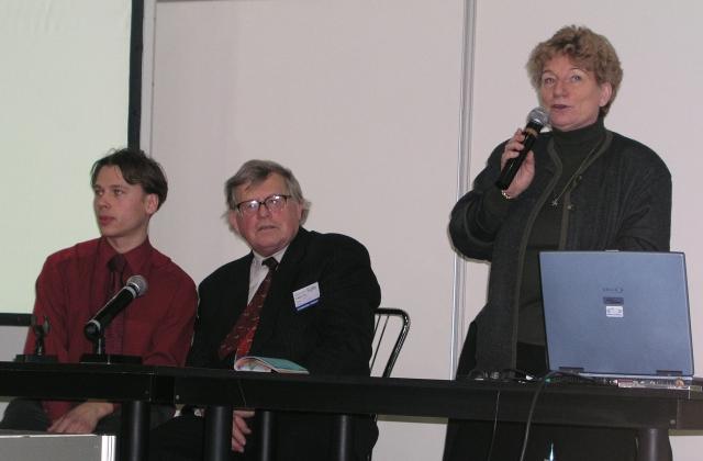 Přednášející na semináři - hovoří Magdalena Zimova