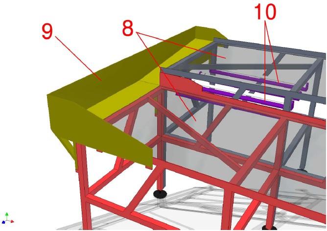 Detail zadní části zařízení