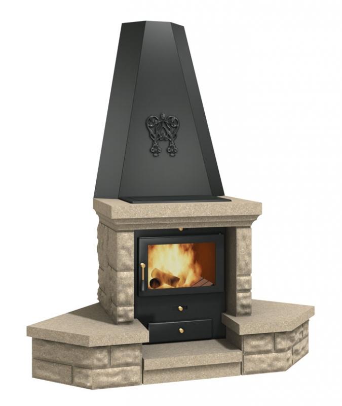 Krbová kamna s teplovodním výměníkem Verner 9/5 - designové provedení