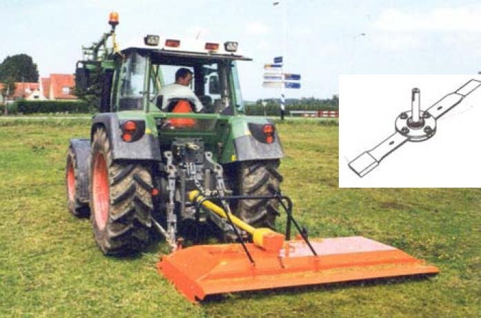 Krouživý mulčovač s detailem provedení pracovního ústrojí od firmy Perfect van Wamel dosahuje vysoké pracovní rychlosti až 10 km/h