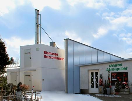Další příkladové řešení  tří topných kontejnerů Hargassner