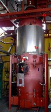 Generátor a upravený vznětový motor kogenerační jednotky lokalizované v obci Louka
