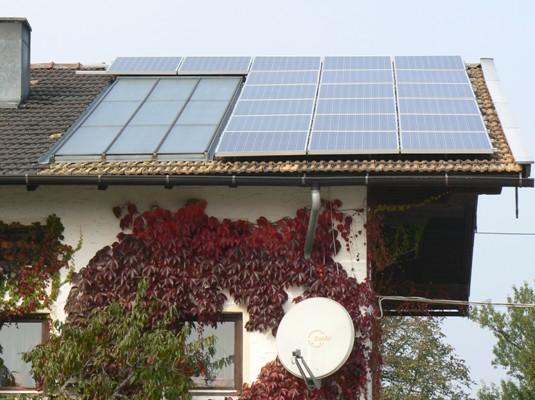 Kombinace s využitím sluneční energie