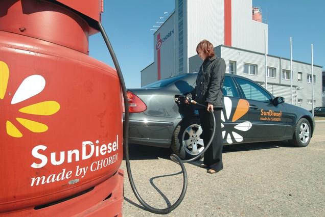 Firma Choren vyrábí motorové biopalivo Sun-Diesel z nepotravinářských surovinFirma Choren vyrábí motorové biopalivo Sun-Diesel z nepotravinářských surovin