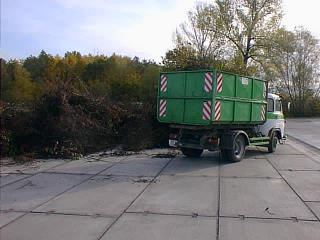 Plocha pro skladování a drcení zeleně