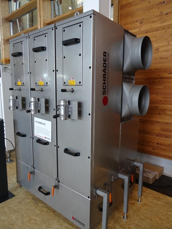 Filterbox-SZ od firmy Schräder, kombinace cyklonových a elektrických filtrů pro spalování dřeva