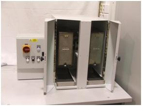Přístroj pro měření mechanické odolnosti pelet (archiv VÚZT, v.v.i.)