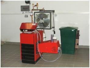 Spalovací zařízení s rotačním roštem (archiv VÚZT, v.v.i.)