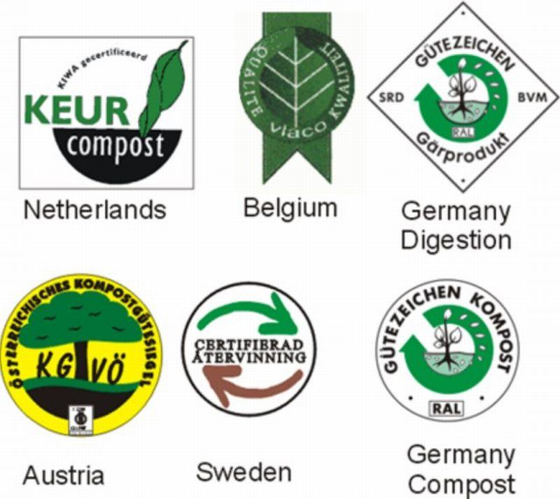 Značky kvality pro komposty, substráty a digestáty
