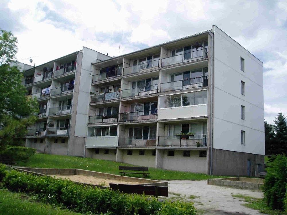Zástavba řadových domů pilotního projektu sběru bioodpadu na Pražském předměstí v Bílině