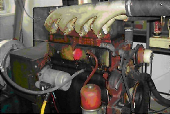 Traktorový motor Zetor 7701 na zkušebním stanovišti