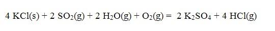 Plynné formy síry soutěží s chlorem o reakci s draslíkem