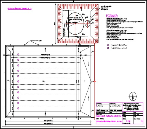 Faremní kompostárna – půdorys objektu