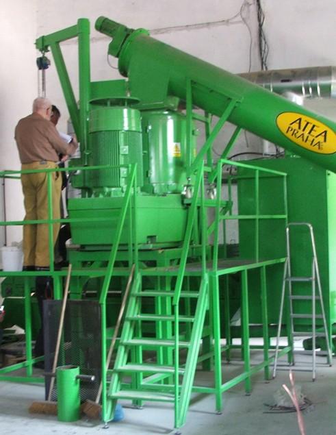 Lisy na granulaci biomasy mají obvykle výkon 1 - 6 t/h