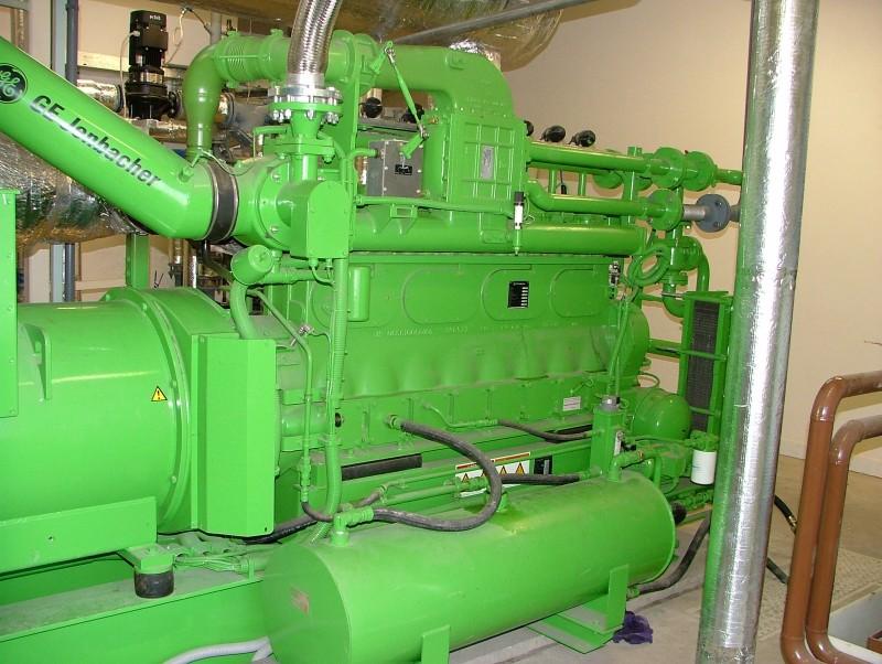 Kogenerační jednotka Jenbacher na bioplynové stanici v Kněžicích