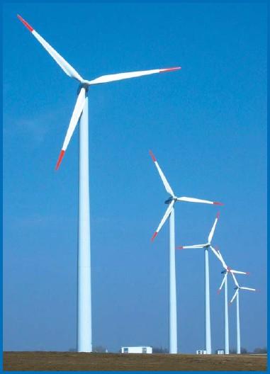 ilustrační foto - větrné elektrárny