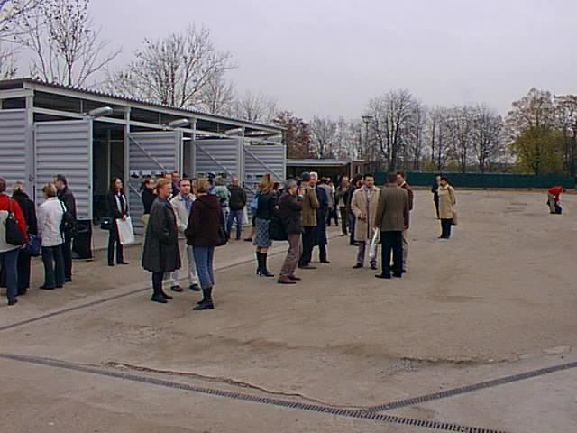Účastníci slavnostního otevření kompostárny