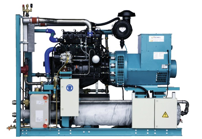 Bioplynové vznětové agregáty se zápalným paprskem40 kW / 60 kW / 75 kW