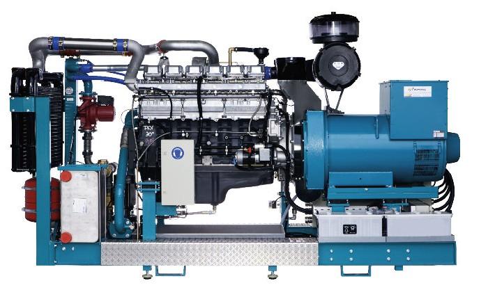 Bioplynové vznětové agregáty se zápalným paprskem180 kW / 250 kW / 265 kW