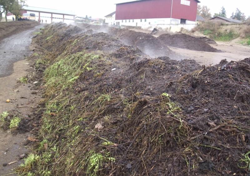 Kompostovacie zakládky pripravené na prekopávanie.