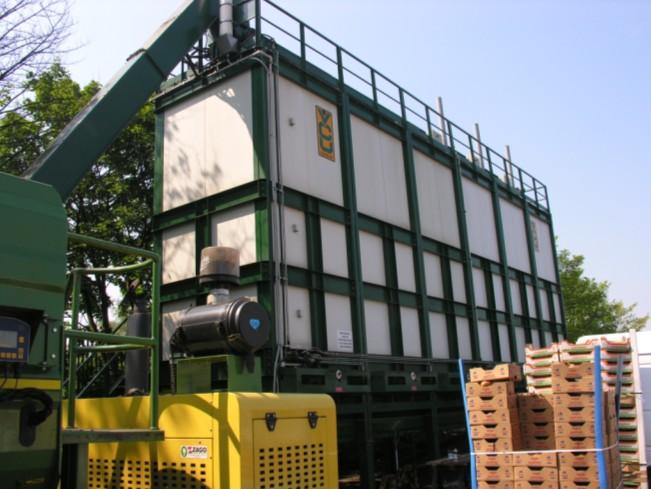 Srdce VCU technológie - 6 spojených kompostovacích boxov.