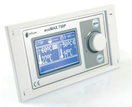 Kotle společnosti GAS KOMPLET mají v základní výbavě regulátor teploty ecoMAX