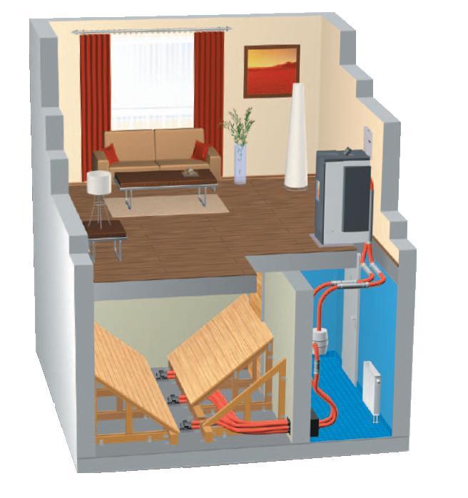 Zapojení peletových kamen a možnost umístění skladu pelet v rodinném domě