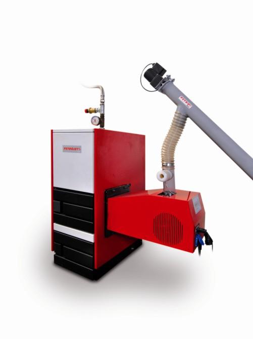 Automatické kotle s hořákem PETROJET Biorobot 30 - pro domácnost (6 - 30 kW)