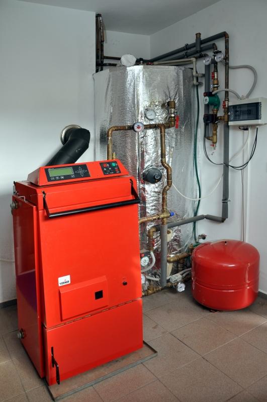 Příklad instalace zplyňovacího kotle VERNER V140 EXTRA
