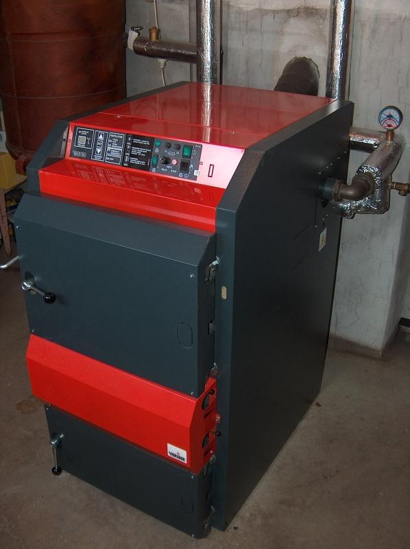 Příklad instalace zplyňovacího kotle VERNER VN25D