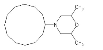 Chemická struktura pesticidu Dodemorph (dostupné z: www.alanwood.net)