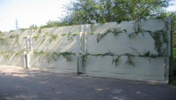 Absorpční dekorativní protihluková stěna
