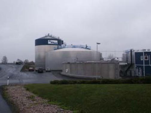 Fermentační stanice Kristianstad-Karpalund (SWE) zpracovávající kejdu a tříděný komunální bioodpad