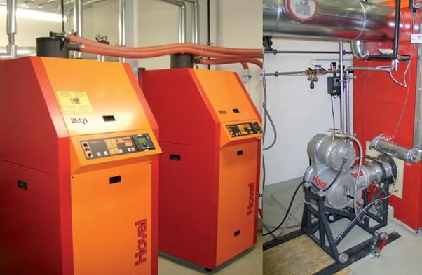 Peletový dvojkotel BioLyt (2 x 70 kW) se Stilrlingovým motorem
