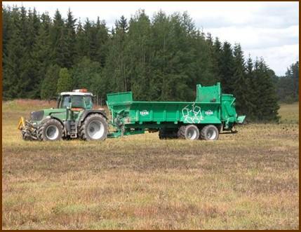 Aplikace čistírenských kalů na porost rychle rostoucích vrb ve Švédsku (Foto: I. Dimitriou, SLU)