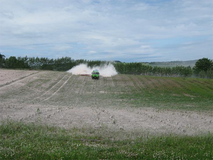 Jediná možnost aplikace hnojiv na RRD je ihned po těžbě