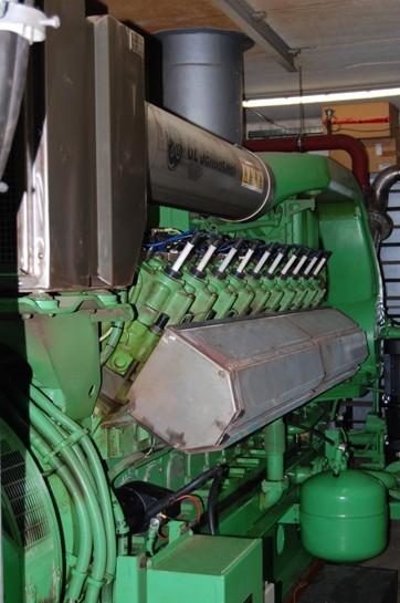 Kogenerační jednotka v bioplynové stanici