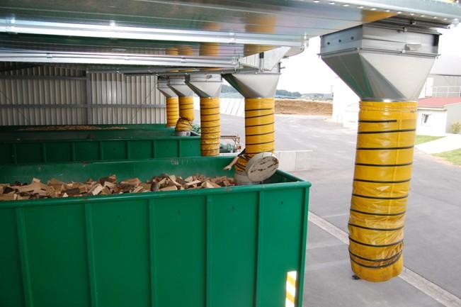 Sušárna dřeva využívající odpadní teplo z bioplynové stanice