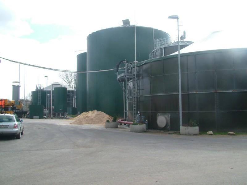 Bioplynová stanice - celkový pohled