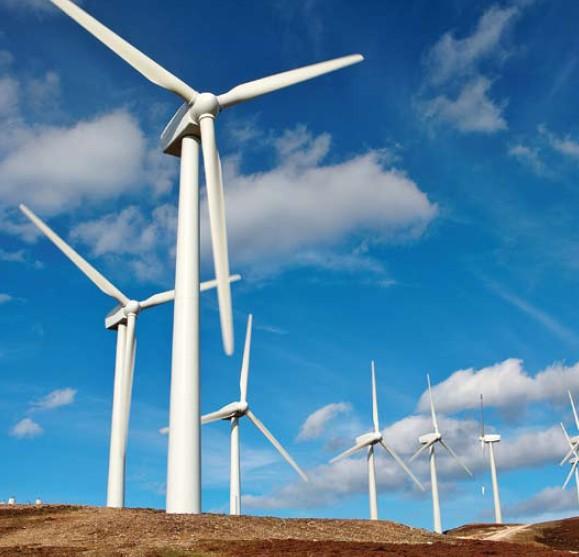Větrné elektrárny - ilustrační foto